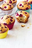 Delicious bitten muffin  — Stock Photo