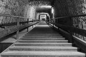 Exit corridor from salt mine — Stock Photo