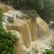 Waterfall in National Park , Kanchanaburi Province , Thailand — Stock Photo