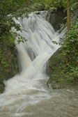 Erawan Waterfall in the rainy season. — Stock Photo