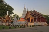 Temples in Chiang Mai province, the Twilight — Stock Photo