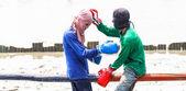 Thai boxing (or Muay Talay) — Stock Photo