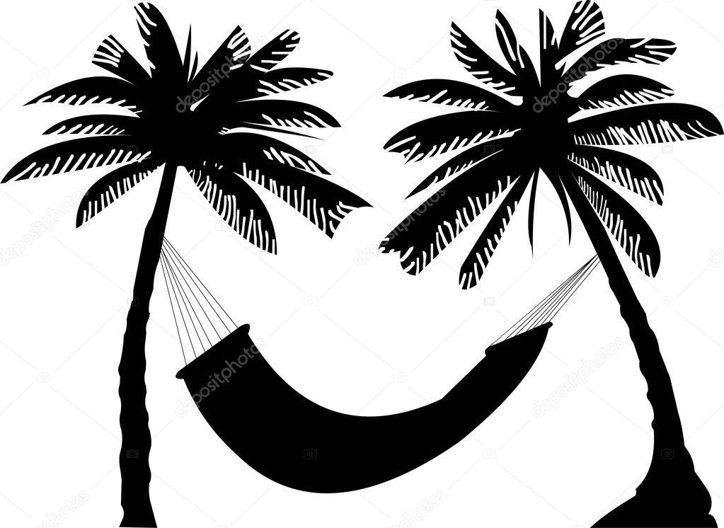 Palm Tree Hammock Clip Art Cliparts