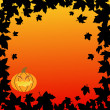 Halloween backgrounds with pumpkin and leaves — Stock Vector