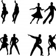 Royalty-Free Stock Vector Image: Set of silhouettes of a dancing couple