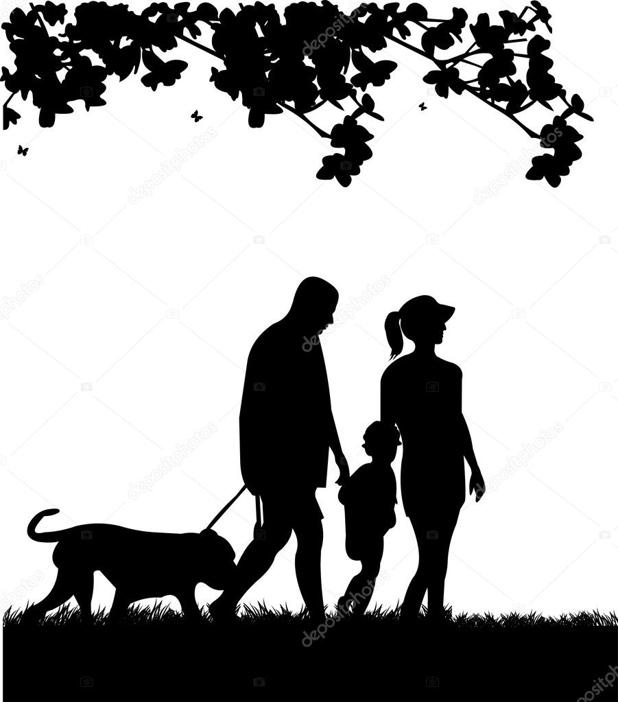 Black And White Shadow Walking Dogs