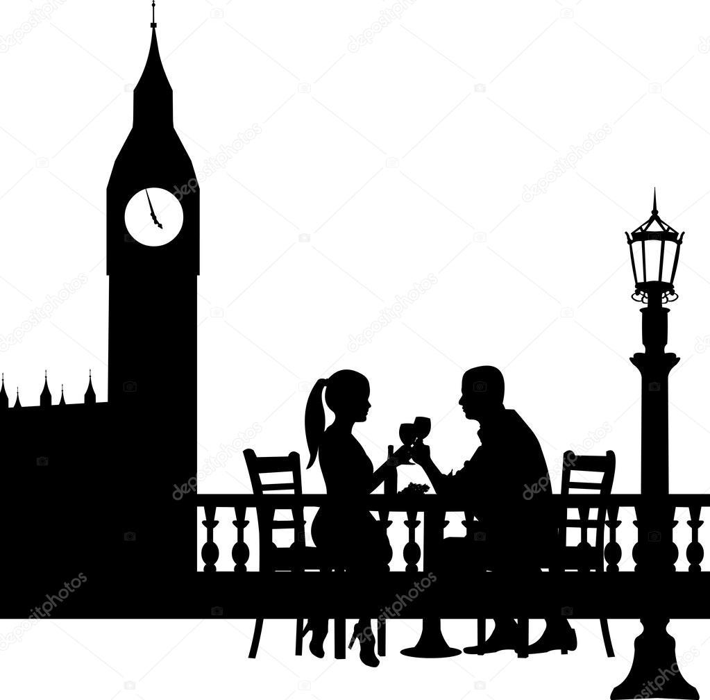 Pareja rom ntica en delantera big ben de londres tiene una - Cena romantica en londres ...