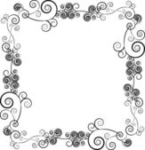 Decorative ornamental frame for text with swirls — Cтоковый вектор