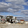 Stock Photo: Destroyed beach house in aftermath of Hurricane Sandy in Far Rockaway, NY