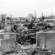 Hurricane devastated area in Breezy Point,NY three months after Hurricane Sandy — Foto Stock