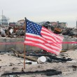:Hurricane devastated area in Breezy Point,NY three months after Hurricane Sandy — Stock Photo