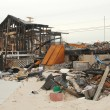:Hurricane devastated area in Breezy Point,NY three months after Hurricane Sandy — Foto Stock