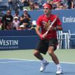 Seventeen times Grand Slam champion Roger Federer practices for US Open at Billie Jean King National Tennis Center - 