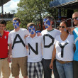 Andy Murray's  fans ready for final match at US OPEN 2012  at Billie Jean King National Tennis Center - Stock Photo
