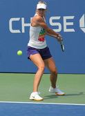 Four times Grand Slam champion Maria Sharapova practices for US Open at Billie Jean King National Tennis Center — Stock Photo