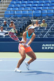 Professional tennis player Angelique Kerber practices for US Open at Billie Jean King National Tennis Center — Stock Photo