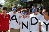 Andy Murray's fans ready for final match at US OPEN 2012 at Billie Jean King National Tennis Center — Stock Photo