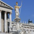 Statue of Athena in front of Austrian Parliament in Vienna. — Stock Photo