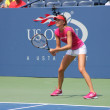 Professional tennis player Daniela Hantuchova practices for US Open at Billie Jean King National Tennis Center — Stock Photo #20245223