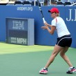 Four times Grand Slam champion Kim Clijsters practices for US Open at Billie Jean King National Tennis Center - Stock Photo