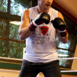 Постер, плакат: Current World heavyweight champion boxer Vitali Klitschko getting ready for championship fight