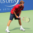 Professional tennis player Ryan Harrison practices for US Open at Billie Jean King National Tennis Center — Stock Photo #20245717