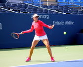 Professional tennis player Christina McHale practices for US Open at Billie Jean King National Tennis Center — Stock Photo