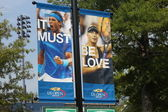 :Billie Jean King National Tennis Center ready for US open tournament — Stock Photo