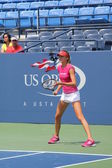 Professional tennis player Daniela Hantuchova practices for US Open at Billie Jean King National Tennis Center — Stock Photo