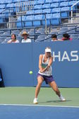 Four times Grand Slam champion Maria Sharapova practices for US Open at Louis Armstrong Stadium at Billie Jean King National Tennis Center — Stock Photo