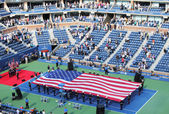 Opening ceremony of US Open men final match at Billie Jean King National Tennis Center — Stock Photo