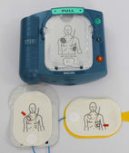 Automated External Defibrillator and pads — Stock Photo