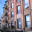 Stock Photo: New York City brownstones