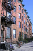 New York City brownstones — Stock Photo