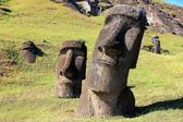 Moai at Quarry, Easter Island, Chile — Stock Photo