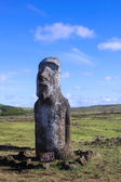 Moai statue on Easter Island, Chile — Стоковое фото
