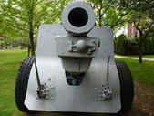 Old canon This is M1918 155mm Howitzer was used in both WWI and WWII — Stock Photo