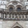 Kings statues at Cathedral Notre Dame de Paris. — Stock Photo