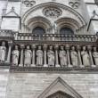 Kings statues at Cathedral Notre Dame de Paris. — Stock Photo