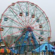 Wonder Wheel at the amusement park — Stock Photo