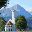 St Coloman Church, Near Fussen, Bavaria, Germany — Stock Photo #21229365