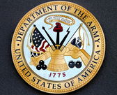Department of the Army logo at the military base — Stock Photo