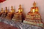 Buddha statues at Wat Pho Temple — Stock Photo