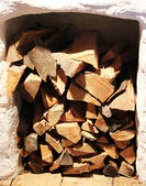 Firewood ready for winter — Stock Photo