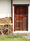 Entrance to old farmhouse in the countryside in Austrian Alps — Stock Photo
