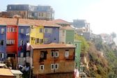 Colorful houses in Valparaiso, Chile — Stock Photo