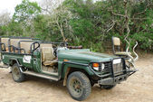 Safari 4wd jeep at the private game reserve, South Africa — Stock Photo