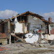 Stock Photo: Destroyed beach houses four months after Hurricane Sandy on February, 28, 2013 in Far Rockaway, NY