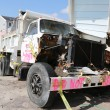 Stock Photo: Damaged truck in devastated arefour months after Hurricane Sandy on February, 28, 2013 in Far Rockaway, NY