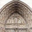 Cathedral Notre Dame de Paris, entrance, architectural details — ストック写真 #21701819